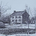 Hezekiah Alexander House Etching Poster by Charles Roy Smith