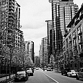 high rise apartment condo blocks in the west end west pender street Vancouver BC Canada Print by Joe Fox