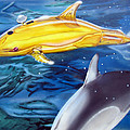 High Tech Dolphins Print by Thomas J Herring