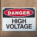 high voltage sign Print by Hans Engbers