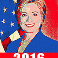 Hillary 2016 Poster by Scarebaby Design