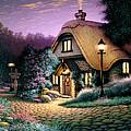 Hillcrest Cottage Print by Steve Read