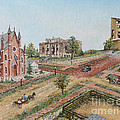 Historic Street - Lawrence Kansas Print by Mary Ellen Anderson