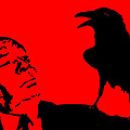 Hitchcock in Red Poster by Jera Sky