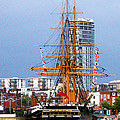 HMS Warrior Portsmouth Poster by Terri  Waters