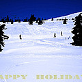 HOLIDAY SKIERS AT MT HOOD  OREGON Print by Glenna McRae