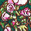 Hollyhock Print by Nadi Spencer