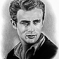 Hollywood greats James Dean Print by Andrew Read