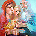 Holy Family Print by Filip Mihail