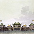 Home Of A Rich Individual In Peking Print by Italian School