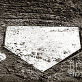 Home Plate Print by John Rizzuto