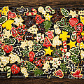 Homemade Christmas cookies Print by Elena Elisseeva