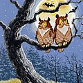 Hooty Whos There Print by Richard De Wolfe