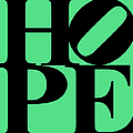 Hope 20130710 Black Green Print by Wingsdomain Art and Photography