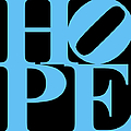 Hope 20130710 Blue Black Poster by Wingsdomain Art and Photography