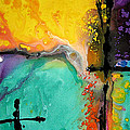 Hope - Colorful Abstract Art By Sharon Cummings Print by Sharon Cummings