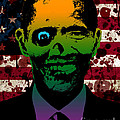 Horrific Zombie Obama Print by Robert Phelps