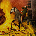horse on the fire Poster by Manuel Lopez