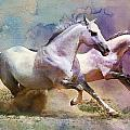 Horse paintings 004 Print by Catf