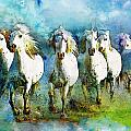 Horse Paintings 006 Print by Catf