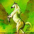 Horse paintings 010 Print by Catf