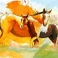 Horse Paintings 013 Print by Catf