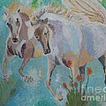 Horses from Camargue 2 Poster by Vicky Tarcau