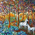 HORSES in the SHADE Poster by Gunter  Hortz