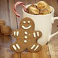 Hot Cocoa and Gingerbread Cookie Print by Juli Scalzi