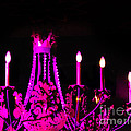 Hot Pink Chandelier Print by Sonja Quintero