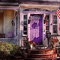 House - Porch - Cranford NJ - Lovely in Lavender  Poster by Mike Savad