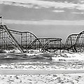 Hurricane Sandy Jetstar Roller Coaster Black and White Print by Jessica Cirz