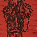 Hydrant Print by William Cauthern
