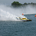 Hydroplane Gold Cup race Print by Michael Rucker