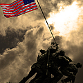 I Pledge Allegiance To The Flag - Iwo Jima 20130211v2 Print by Wingsdomain Art and Photography