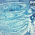 Icicle Abstract Triptych 2 Blue Poster by Marie Spence