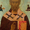 Icon of St. Nicholas Print by Russian School