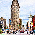 Iconic New York City Flatiron Building Print by Mark E Tisdale