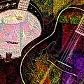If Not For Color Digital Banjo and Guitar Art by Steven Langston Print by Steven Lebron Langston