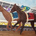I'll Have Another wins preakness Print by Glenn Stallings