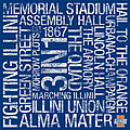 Illinois College Colors Subway Art Poster by Replay Photos