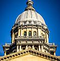 Illinois State Capitol Dome in Springfield Illinois Print by Paul Velgos