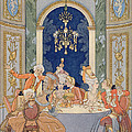 Illustration from 'Les Liaisons Dangereuses'  Print by Georges Barbier