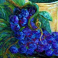 Impressionist Grapes and Wine Poster by Eloise Schneider