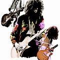 In Flight  Jimmy Page  Poster by Iconic Images Art Gallery David Pucciarelli