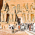 In The Presence of Ramses II at Abu Simbel Print by Mark Tisdale