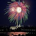 Independence Day Fireworks at the National Capital Print by Carol M Highsmith