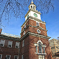 Independence Hall Bell Tower Print by Olivier Le Queinec