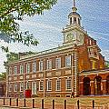 Independence Hall Philadelphia  Print by Tom Gari Gallery-Three-Photography