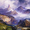 Index Peak Yellowstone National Park Poster by Thomas Moran